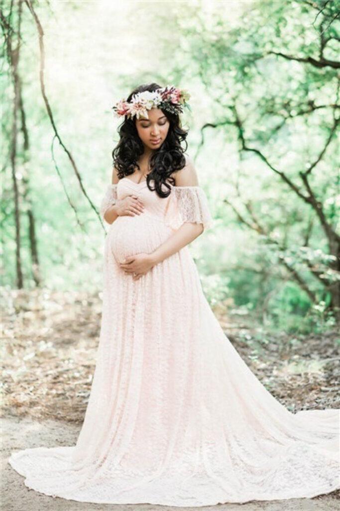 Kundengarderobe: Kleid für Babybauch Shooting
