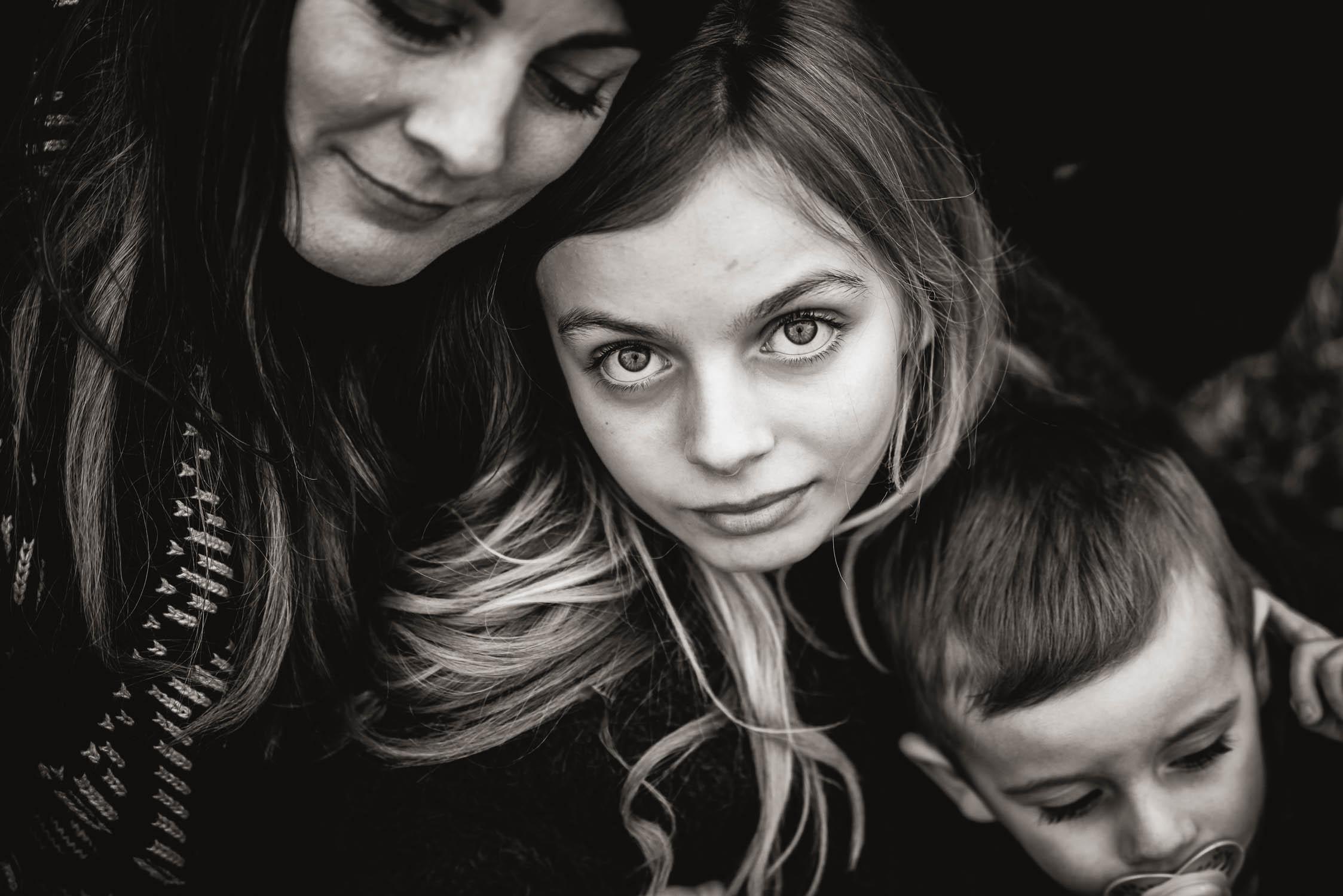 Familien Fotos im Winter in Zürich